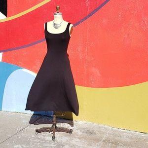 Nasty Gal Black Stretchy Swing Tank Dress, Sz  M/6